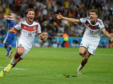 הקבוצתיות הביאה להישגים. גרמניה חוגגת גביע עולמי (getty)