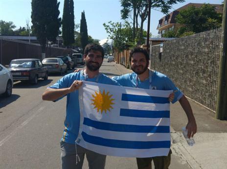 אוהדי אורוגוואי מוכנים