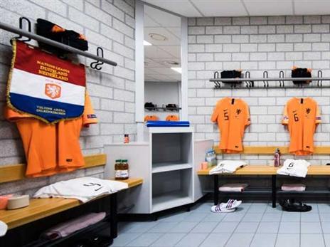 חדר ההלבשה ההולנדי מוכן (Simon Hofmann - UEFA, Getty)