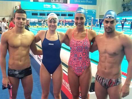 הישג נאה לנבחרת המיקס (באדיבות איגוד השחייה)