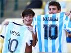 בבית של מראדונה: מסי מגיע לנאפולי