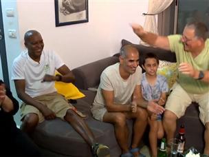 לא נפל רחוק מהעץ: משפחת בריסקר חגגה גביע