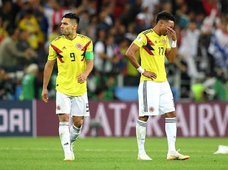 קולומביה לא הצליחה לשחזר את ההישג מ-2014 (getty)