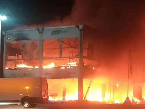איזור השריפה (צילום: יצרן)