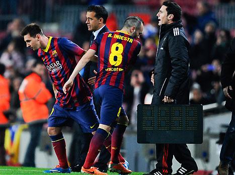 הרגע לו חיכו בברצלונה (gettyimages)