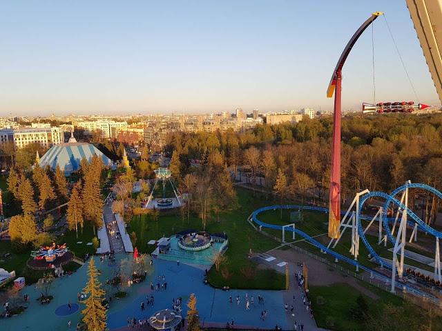 הלונה פארק ממרום הגלגל הענק