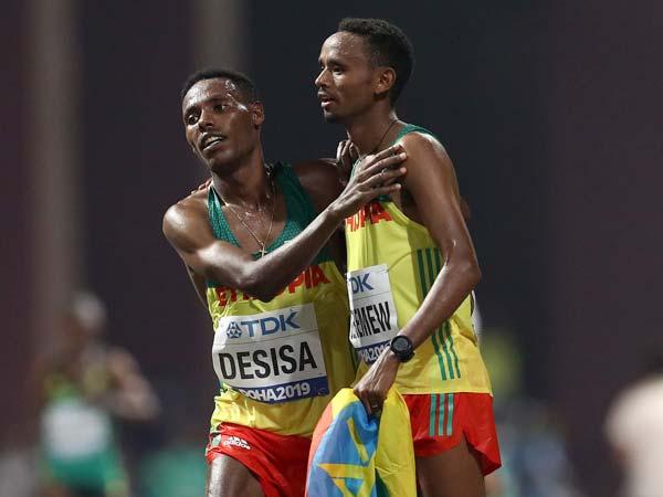 ניצחון אתיופי במרתון (Getty)