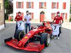 כשרונאלדו פגש את נהגי ה-F1 של פרארי