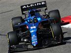 מכונית ה-F1 של אלונסו בקבוצת אלפיין (צילום: Getty)