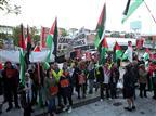 לפני מכבי: הפגנה פרו פלסטינית בדבלין