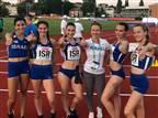 שיא ישראל נקבע בריצת 100 מטר שליחים נשים