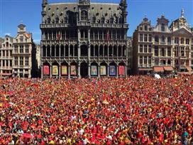 התקבלו בברכה: שחקני בלגיה נחתו בבריסל