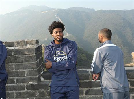 דוסון בחומה הסינית. זכה לחוויה לכל החיים (Getty)
