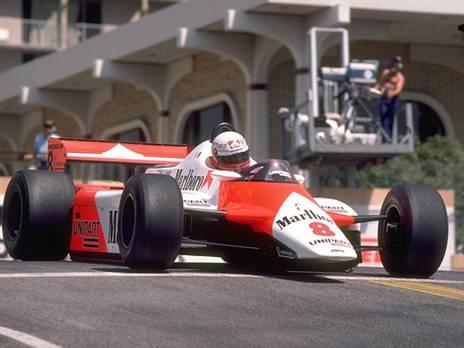 ניקי לאודה במירוץ מונקו 1982 במכונית המקלארן-פורד. נאלץ לפרוש בשל תקלה (צילום: Getty)