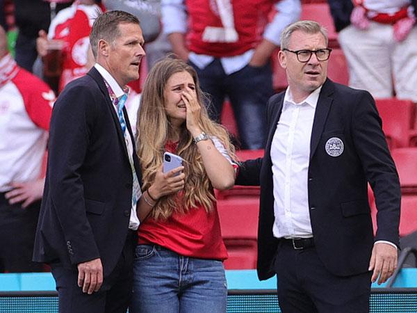 אשתו של אריקסן. לא הייתה יכולה לעצור את הדמעות (Getty Images)