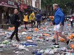 מגעיל: כך השאירו אוהדי סקוטלנד את לונדון