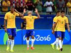 ברזיל חוגגת העפלה לשלב הבא (Getty)