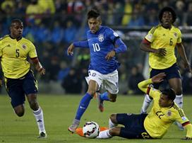 0:1 לקולומביה על ברזיל, אדום לניימאר