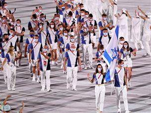 המשלחת הישראלית בטקס פתיחת האולימפיאדה
