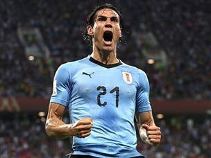 קבאני כיכב וסחב את אורוגוואי לרבע הגמר