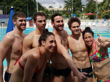 האתגר המרכזי העונה: אליפות העולם. שחייני ישראל (צילום: באדיבות הוועד האולימפי)