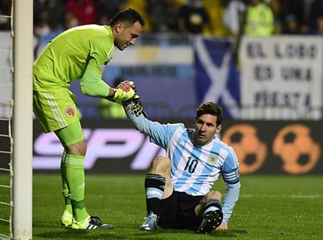 למזלו, ההחמצה לא עלתה ביוקר. מסי (AFP)