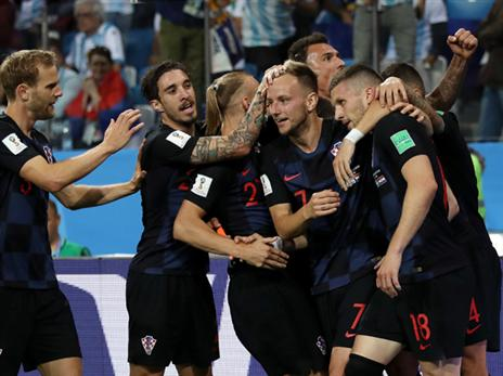 קרואטיה חגגה על ארגנטינה. לפעמים גם הצגה אחת מספיקה (GETTY)