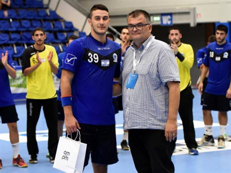 אדיר כהן היה מהמצטיינים בנבחרת (צילום: Slavko Kolar, EHF)