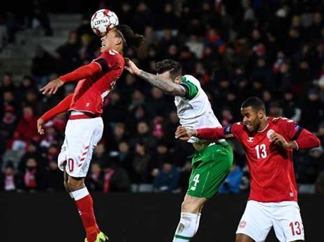 עדיין אין שערים בין דנמרק לאירלנד (Stephen McCarthy, Getty)