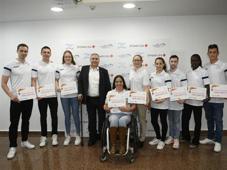 עשרה ספורטאים זכו לחסות (עמית שיסל, הוועד האולימפי בישראל)