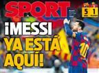 """""""הוא כאן"""": בברצלונה מהללים את ליאו מסי"""