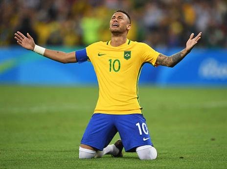 ניימאר. הרגע המשמח ביותר של הברזילאים (Getty)