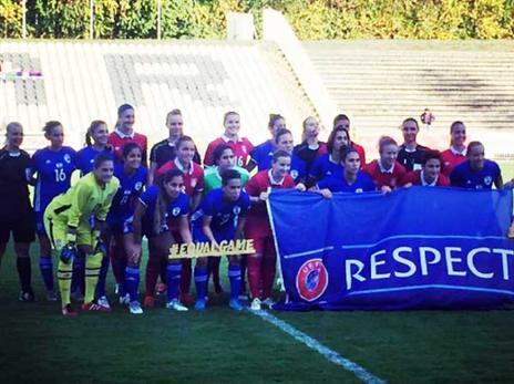 ביום שני מול ספרד (צילום: האינסטגרם של ההתאחדות לכדורגל)