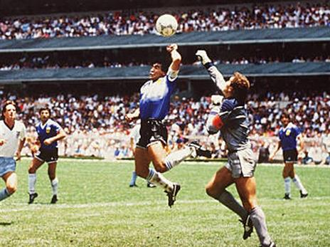 אם רק היה VAR במקסיקו 1986 (getty)