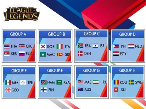 בכותר League of Legends ישראל תשחק אל מול דנמרק ודרום אפריקה