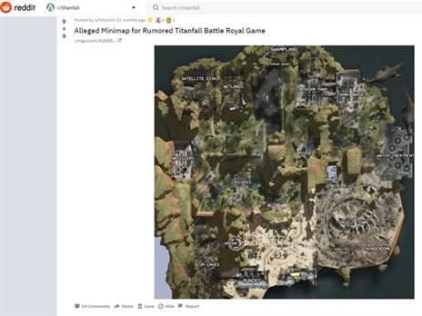 מפת המשחק שנחשפה לפניי כ-11 חודשים ב-REDDIT, וזכה  להתעלמות