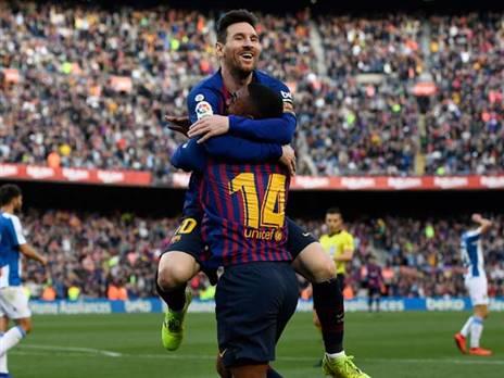 ניצחון 334 בליגה הספרדית. מסי (getty)