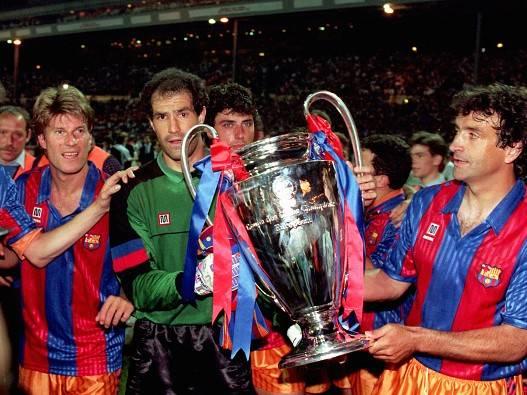 משם, הכל התחיל. ברצלונה חוגגת גביע אירופה (getty)