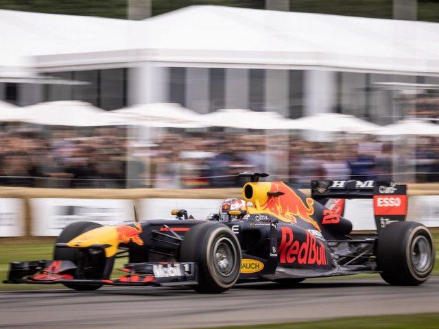 מכונית ה-F1 של רדבול במסגרת פסטיבל המהירות בגודווד (צילום: Getty)