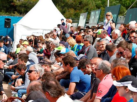 הרבה אוהדים לישראל בקהל (עפרה פרידמן, איגוד הטניס)