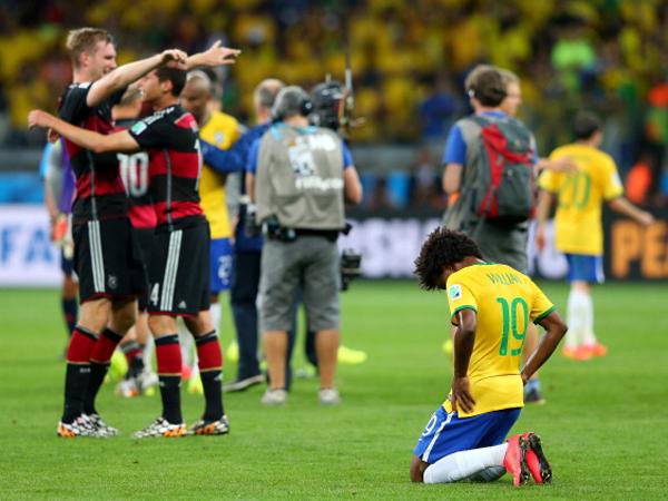 חצי גמר מונדיאל 2014 - הגרמנים שוברים לברזיל את הלב (Getty)