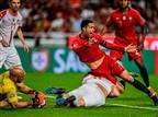 רונאלדו נפצע והוחלף ב-1:1 של פורטוגל עם סרביה