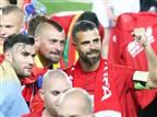 הבלם והחלוץ חוגגים גביע ב-2018 (צילום: דני מרון)