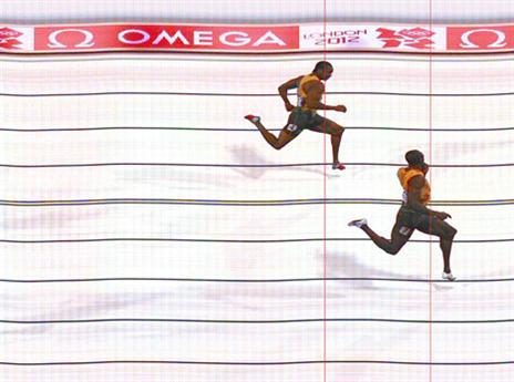 הניצחון על בלייק ב-200 מטר. היחיד שנתן לו פייט (gettyimages)