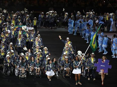 המשלחת הברזילאית הייתה גדולה במיוחד (getty)