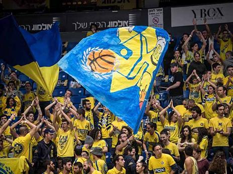 הקהל של מכבי הפגין נוכחות (אלן שיבר)