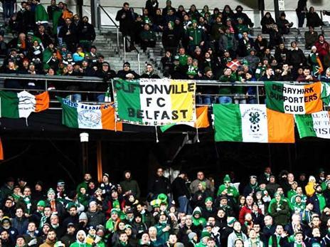 האוהדים האירים הגיעו לדנמרק (Stephen McCarthy, Getty)