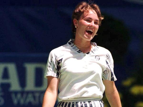הינגיס ב-1997. פרצה לשמי הטניס כמטאור (getty)
