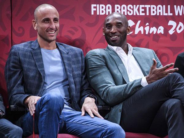 אגדות כדורסל הגיעו לצפות. בראיינט וג'ינובילי (FIBA)