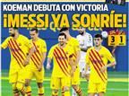 """""""מסי כבר מחייך"""": ברצלונה חוגגת את החזרה"""